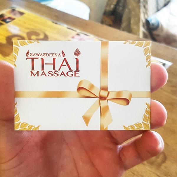 Regalar Masaje Tailandes en Benidorm | Gift Thai Massage